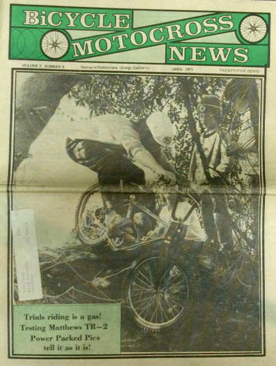 rl osborn bicycle motocross news bmx 04 1975