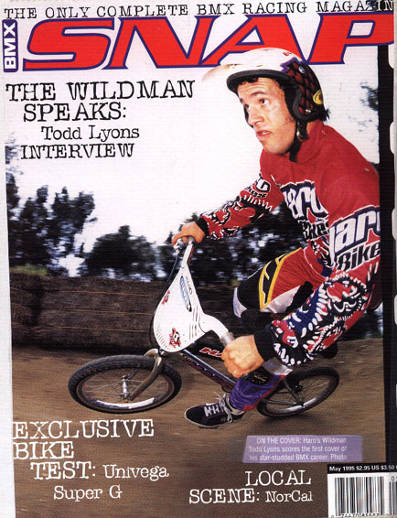 todd lyons snap bmx may 1995